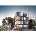 Containers and steel frames will form housing in Roskilde, Denmark