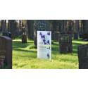 Gravstenar i glas förnyar svenska kyrkogårdar