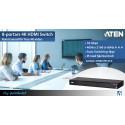 8-portars 4K HDMI Switch med True 4K