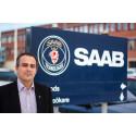 Saabchef vid styret för Marits Segwaysits