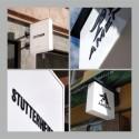 Ljusskylt i moderiktigt utförande till Amend Atelier & Stutterheim Raincoats