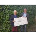 BAE Systems Hägglunds personal skänker 50 000 till Gula Bandet