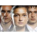 Gymnasieföretagare går upp inför jury