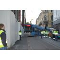 Vellykket prøvekjøring for trikken i Prinsens gate/Akersgata