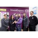 Toddler fighting eye cancer joins Vision Express to officially open new optical store at Tesco in Wisbech