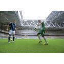 Arbetet med Stockholms nya arena går in på sitt upplopp -  Konstgräset på plats i Tele2 Arena
