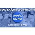 Anmälan till Special Olympics Games 2018 har öppnat