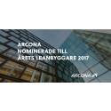 Arcona nominerade till Årets Leanbyggare 2017