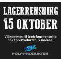 Årets lagerrensning 15 oktober
