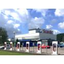 Scandic Kalmar Väst får laddningsstation för elbilar och superchargers för Tesla