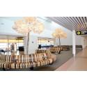 Hållbart designkoncept lyfter upplevelsen på Malmö Airport