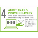 Full electronic audit trails for proof of delivery