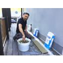 Bjørn bygger bo – Støpt vindusbenk i betong