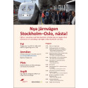Nya järnvägen Stockholm-Oslo, nästa!