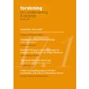Nytt nummer av Forskning om undervisning och lärande, 2017: 1, vol. 5
