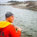 Jonas Colting har nu simmat 220 kilometer av Sverigesimmet mellan Stockholm och Göteborg