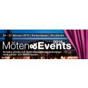 Möten & Events 2016: Nordens största fackmässa för mötes- och eventindustrin