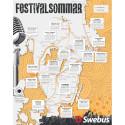 Swebus lanserar sommarens festivalresor - sätter in bussar till 18 festivaler
