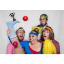 Clowner utan Gränser på skolor i Gävle