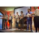 De fem tävlande i Forskar Grand Prix Borås 2016