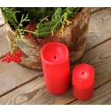 Röda ljus med skymningssensor litet och stort