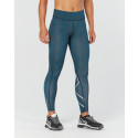 2XU Mid-Rise Print Compression tights Marrocan blue
