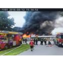 Brand i växthus i Ödåkra