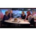 Bostadsförmedlingens vd diskuterar bostadssituationen i morgon-tv