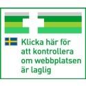 EU-logga: Alla som säljer läkemedel via internet i EU ska skylta med denna symbol. Titta efter den och klicka på den för att veta att du handlar läkemedel säkert!