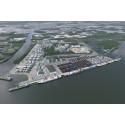 Norrköpings hamn, visualisering utbyggnad