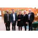 Statsrådet Anna Ekström besökte Borås för dialog om Ericsson