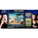 The world's first live slot.
