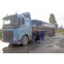 Hållbara asfalttransporter Peab Asfalt