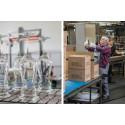Riedel glastillverkning