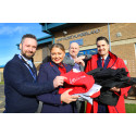 Virgin Trains staff deliver old uniforms to HMP Northumberland for pioneering recycle scheme
