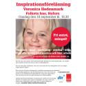 Inbjudan till Föreläsning med Veronica Hedenmark i Hofors