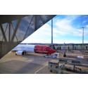 Passengers boarding aircraft