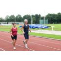 Motion för seniorer i friidrottshallen på Nolia