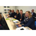 Glada deltagare under marknadsworkshopen i Arjeplog