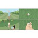 Unika animerade regelfilmer i golf