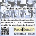 Pax et Bonum Ja … wohin laufen Sie denn? In die nächste Buchhandlung - Berlin-Marathon 2016