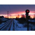Röd signal järnväg