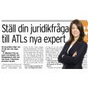 Lisa Kylenfelt ny juridikexpert i ATL