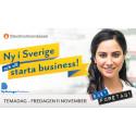 Ny i Sverige - och vill starta business - nyhet!