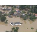 Helikopterbilde av flommen mai 2017