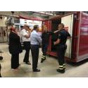 Statsminister Stefan Löfven besöker Haninges brandstation