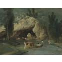 Nyförvärv: Båtar framför grottan i parken vid Méréville av Hubert Robert