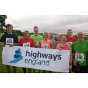 Highways England runners celebrate 50th anniversary of Severn Bridge