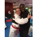 Gitte Brunstad i finalen i karate-VM