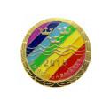Ett regnbågsfärgat Simborgarmärke visar vägen framåt!